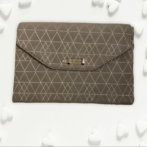 Taupe Stella and Dot Envelope Clutch
